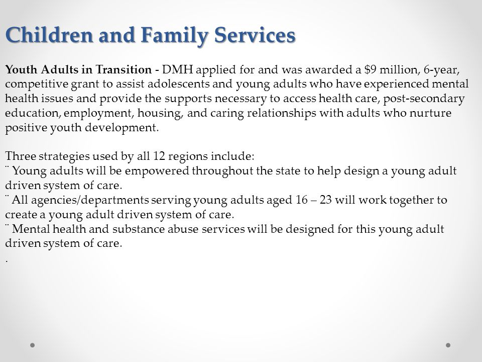 Children and Family Services