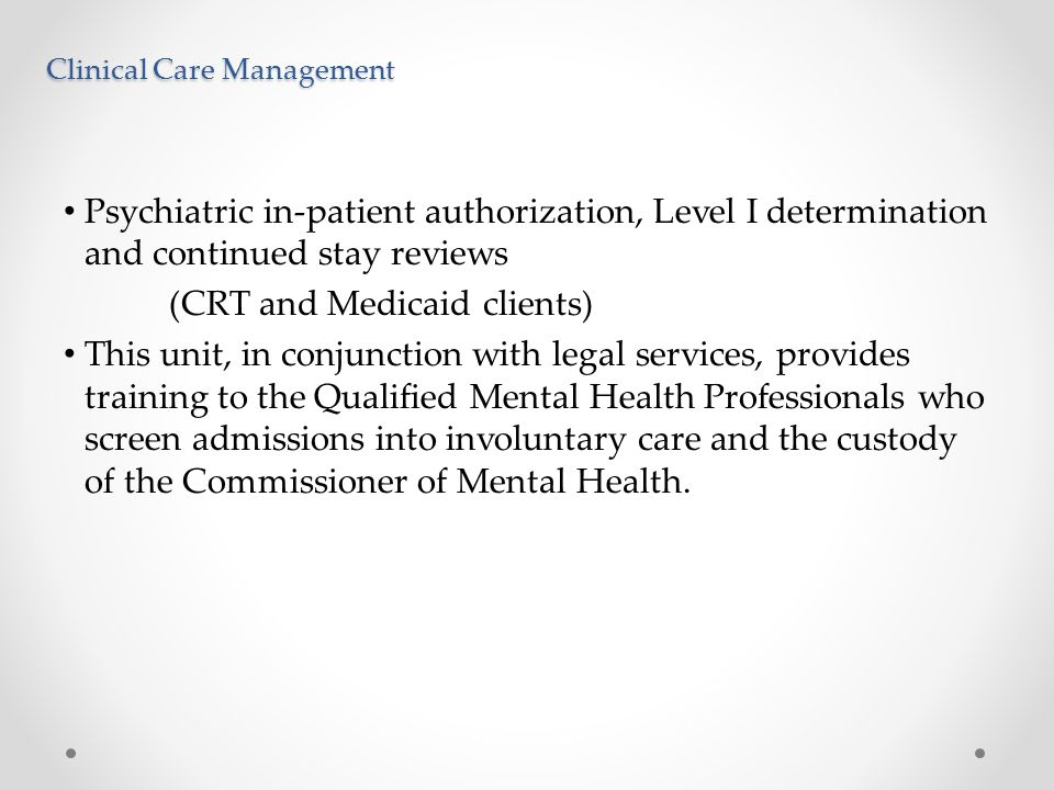 Clinical Care Management