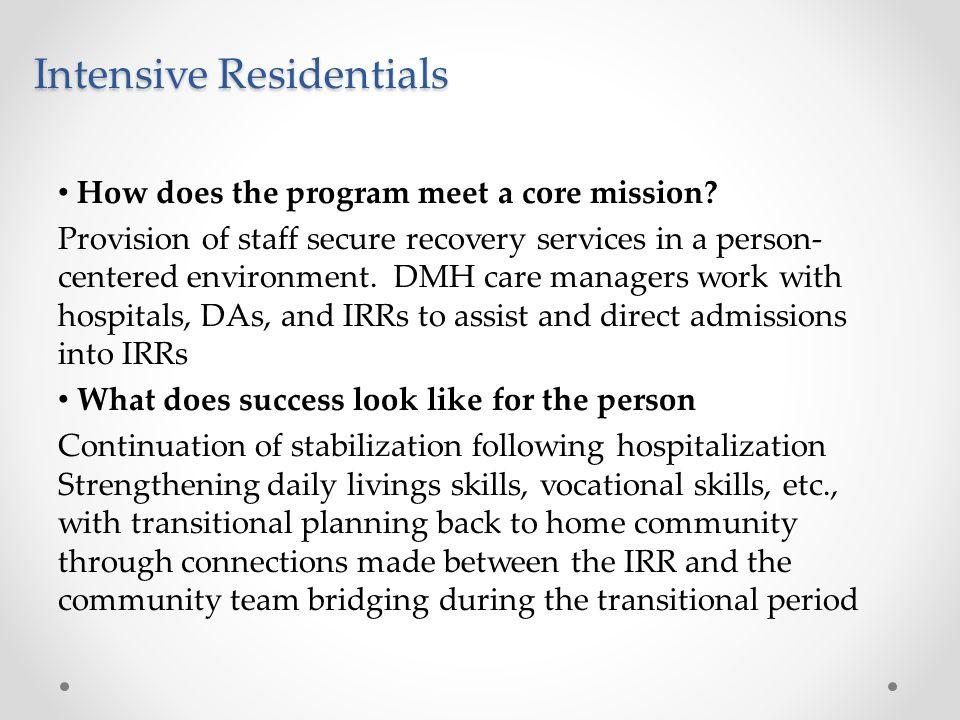 Intensive Residentials