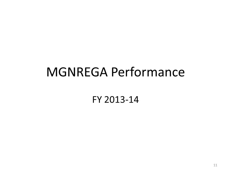 MGNREGA Performance FY 2013-14