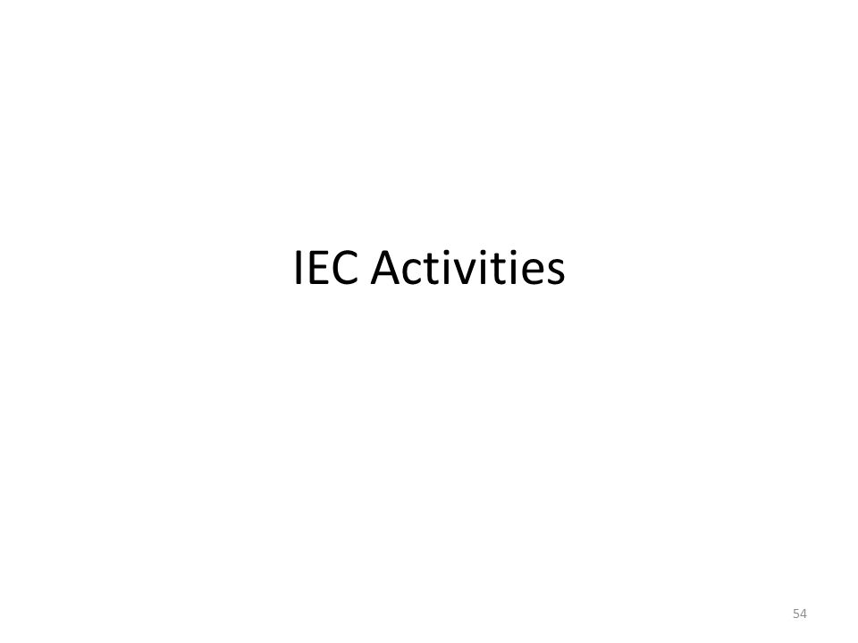IEC Activities