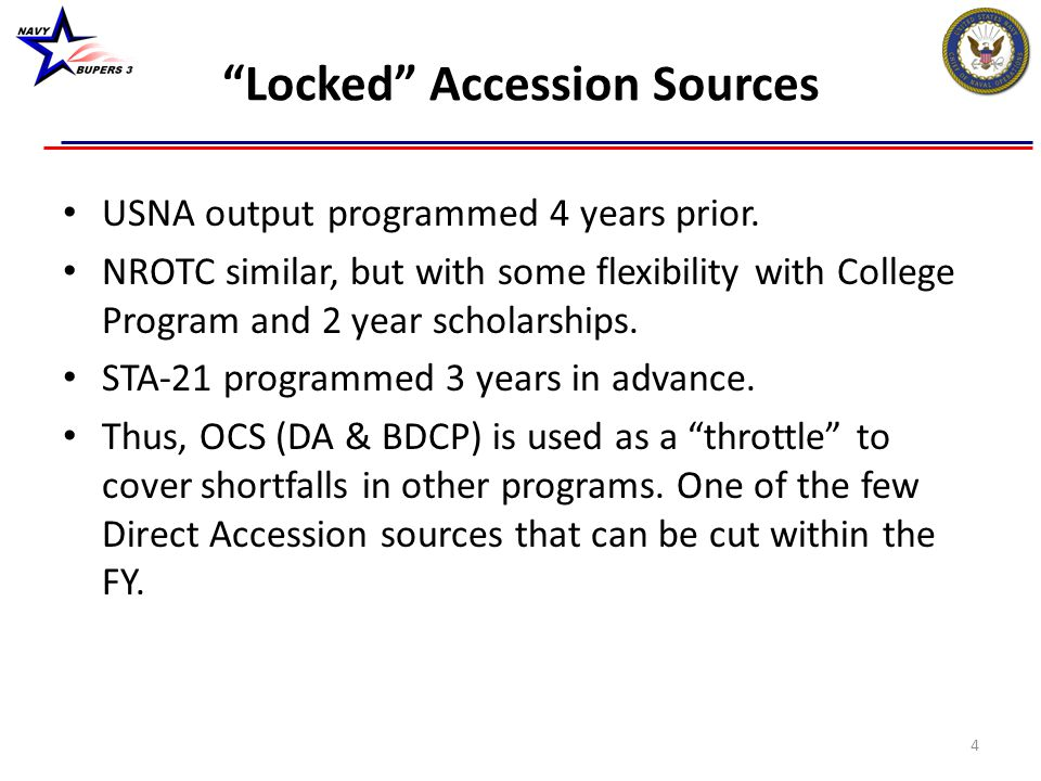 Locked Accession Sources