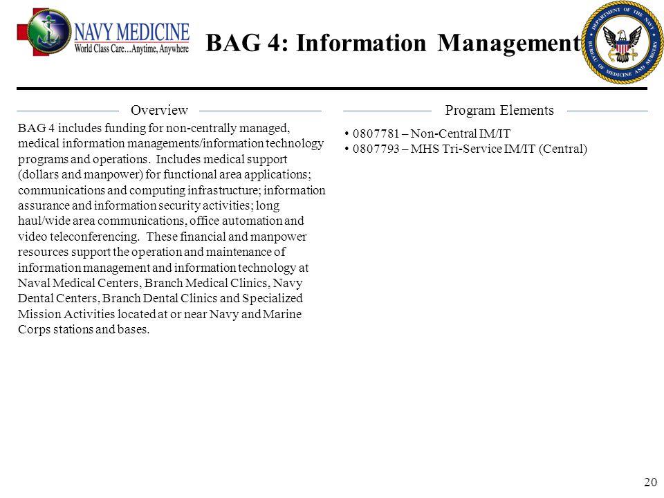 BAG 4: Information Management