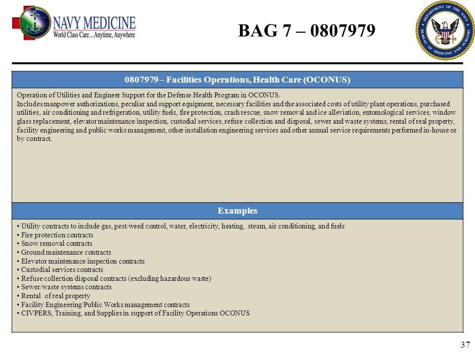 0807979 – Facilities Operations, Health Care (OCONUS)