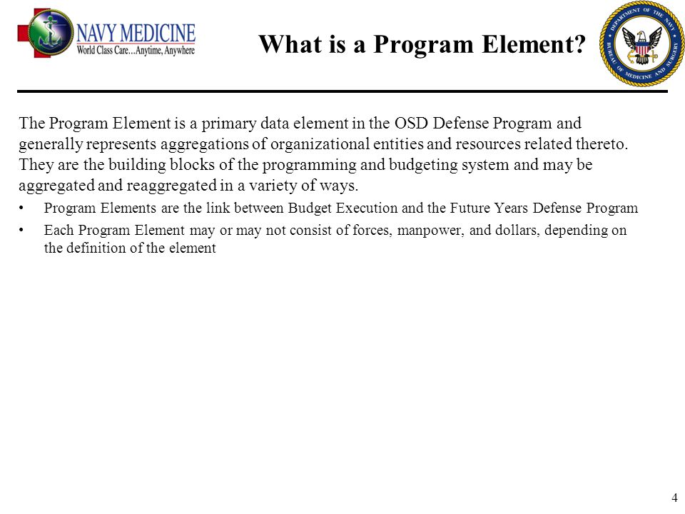 What is a Program Element