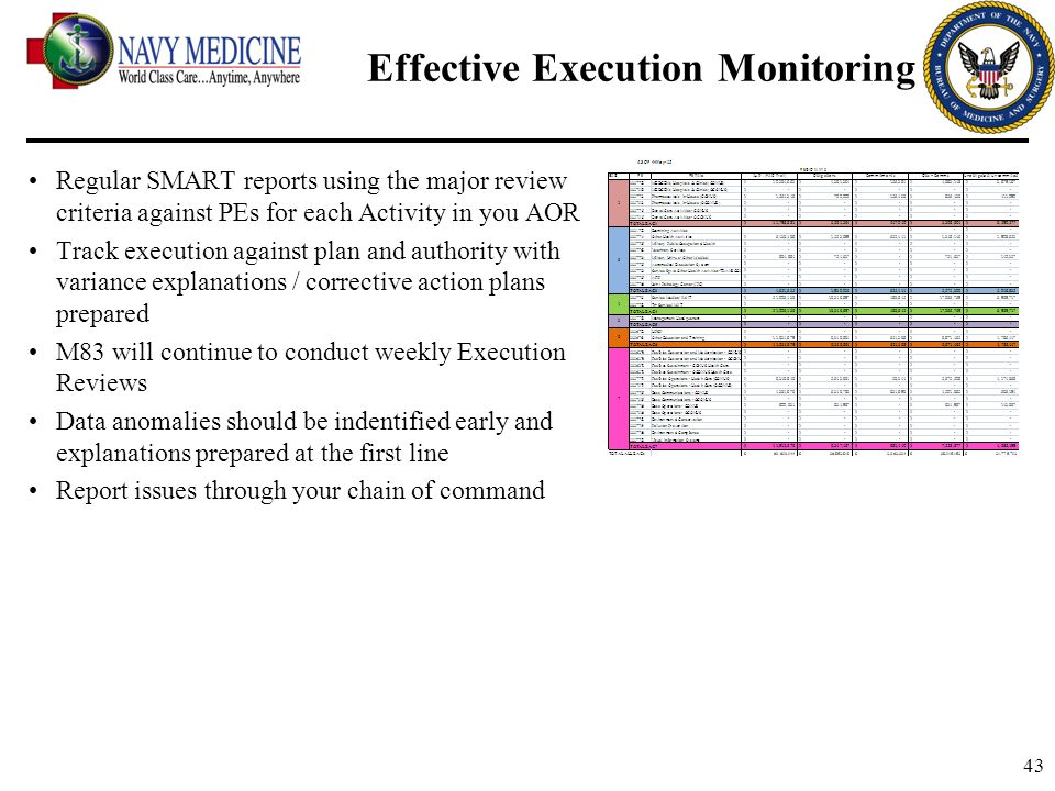 Effective Execution Monitoring