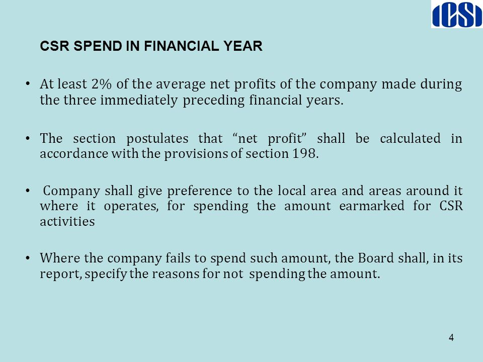 CSR SPEND IN FINANCIAL YEAR