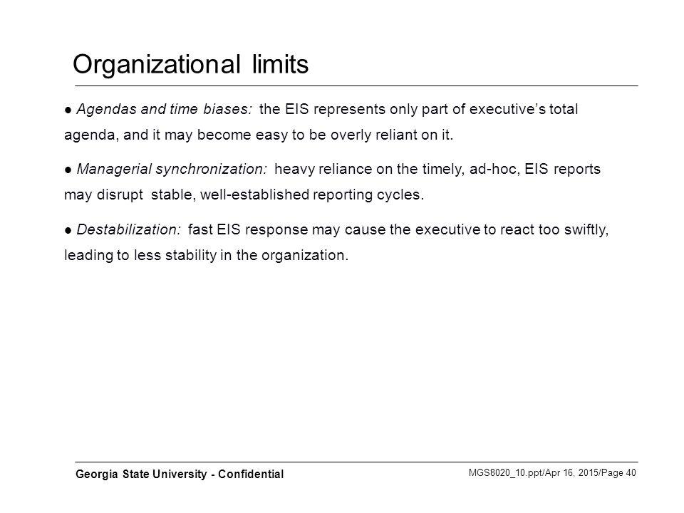 Organizational limits