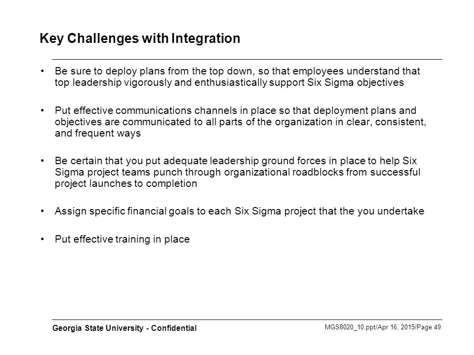 Key Challenges with Integration