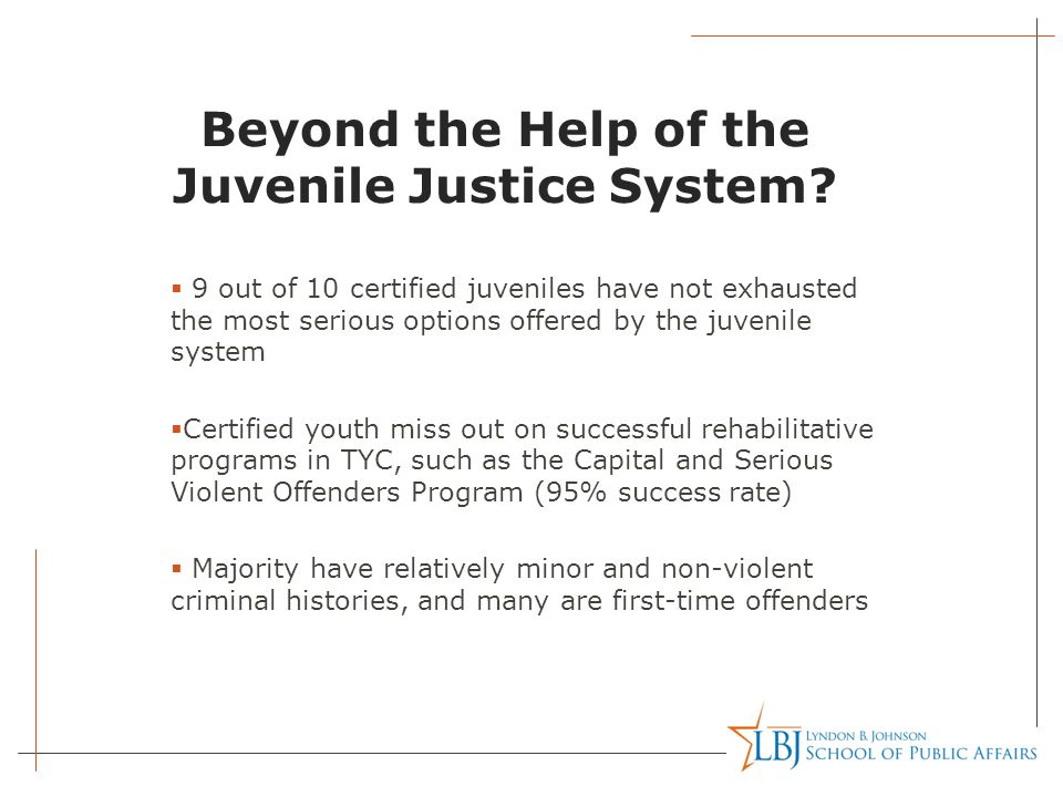 Beyond the Help of the Juvenile Justice System