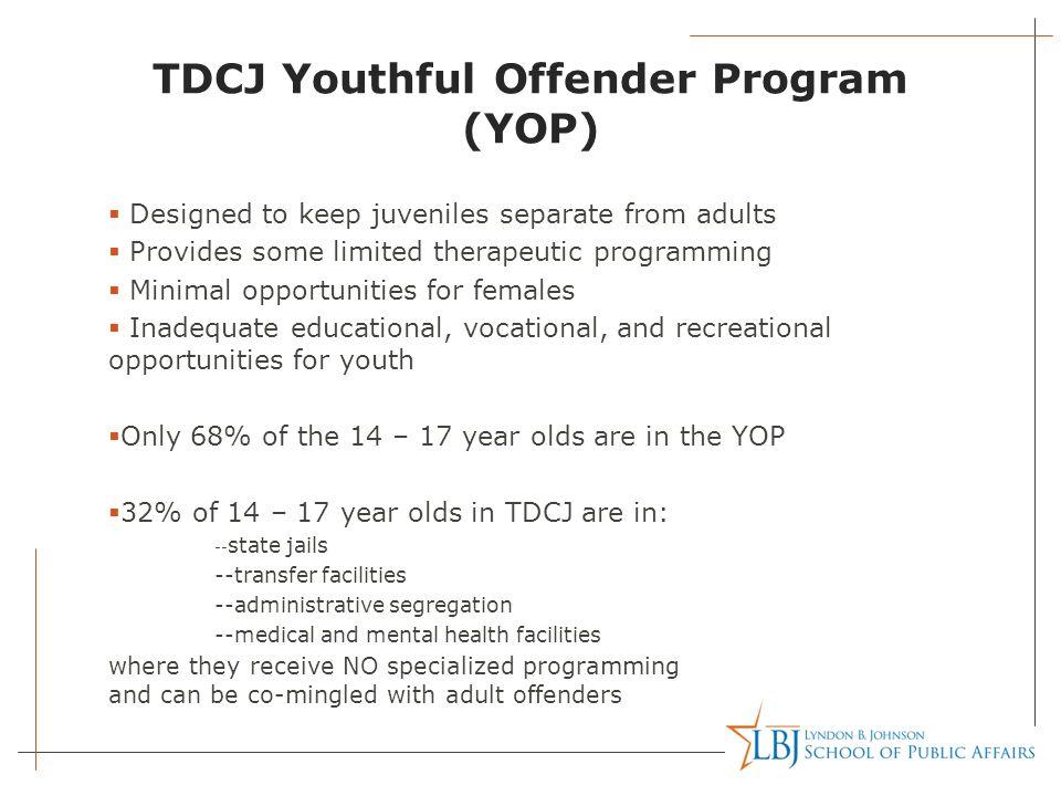 TDCJ Youthful Offender Program (YOP)