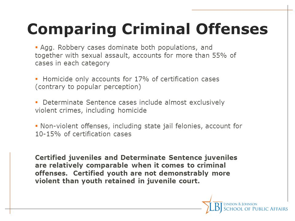 Comparing Criminal Offenses