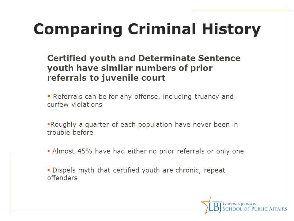Comparing Criminal History