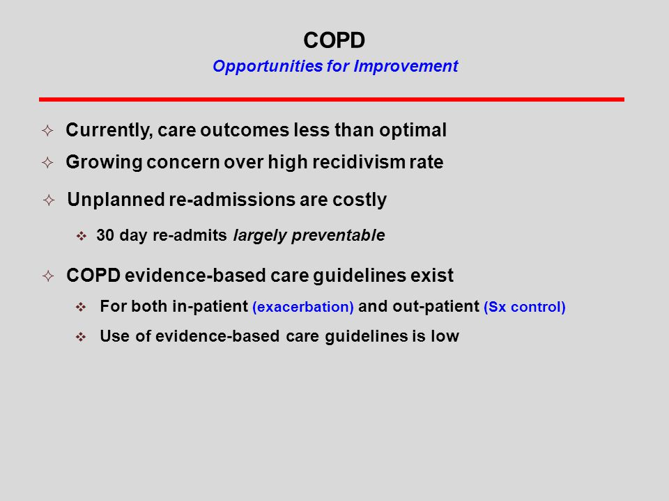 COPD Opportunities for Improvement