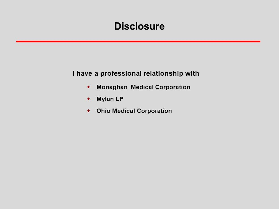 Disclosure I have a professional relationship with