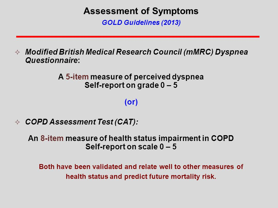 CMS Pulls The Trigger on COPD in FY2015