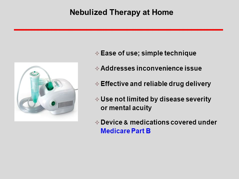 Nebulized Therapy at Home