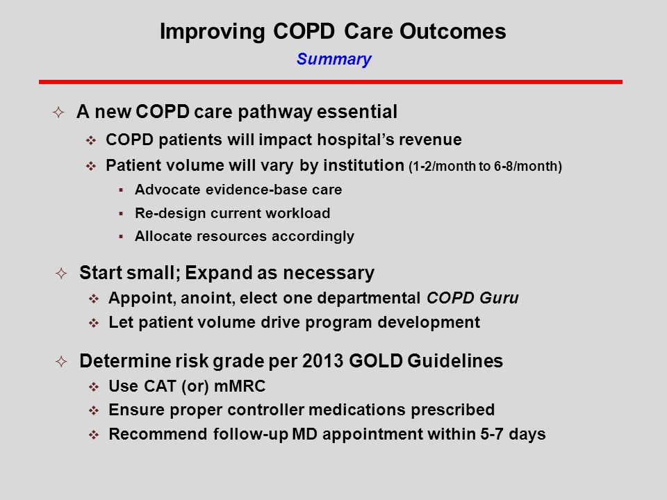Improving COPD Care Outcomes Summary
