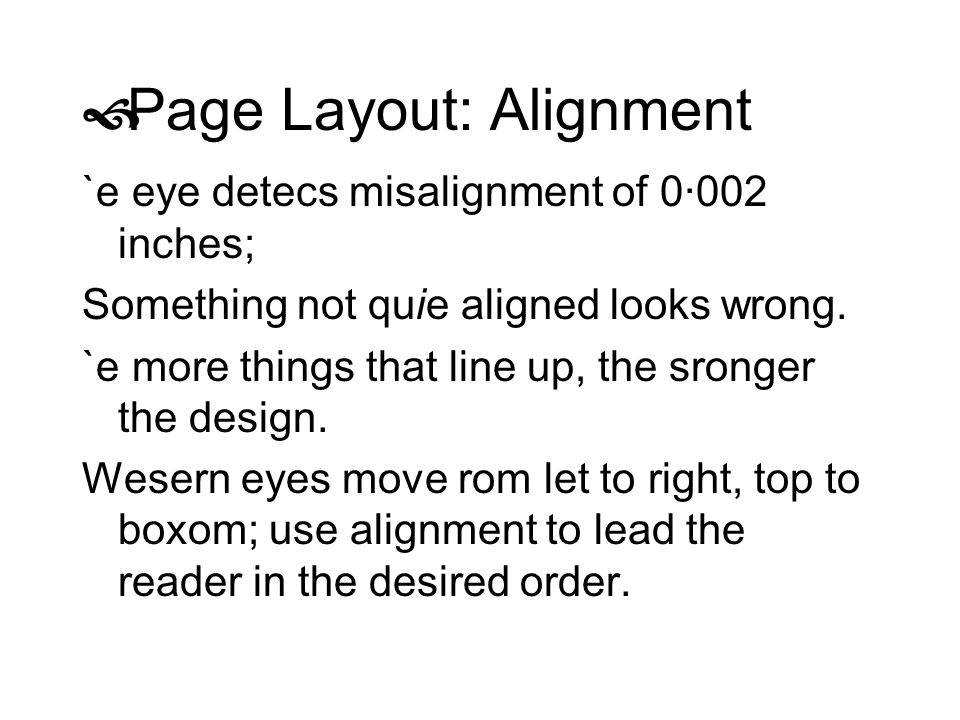 Page Layout: Alignment