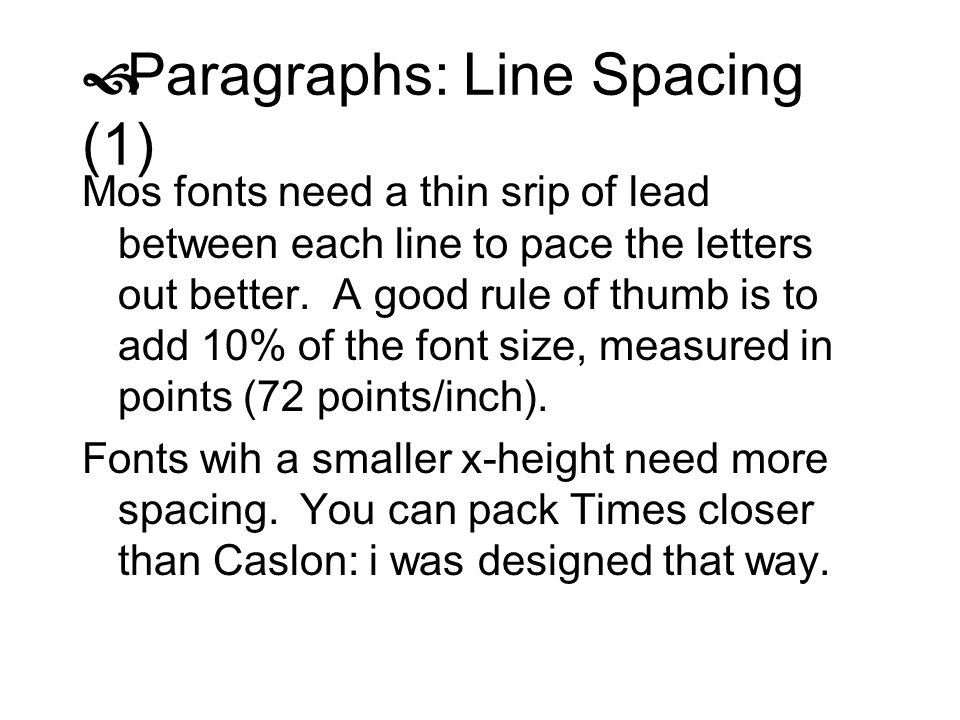 Paragraphs: Line Spacing (1)