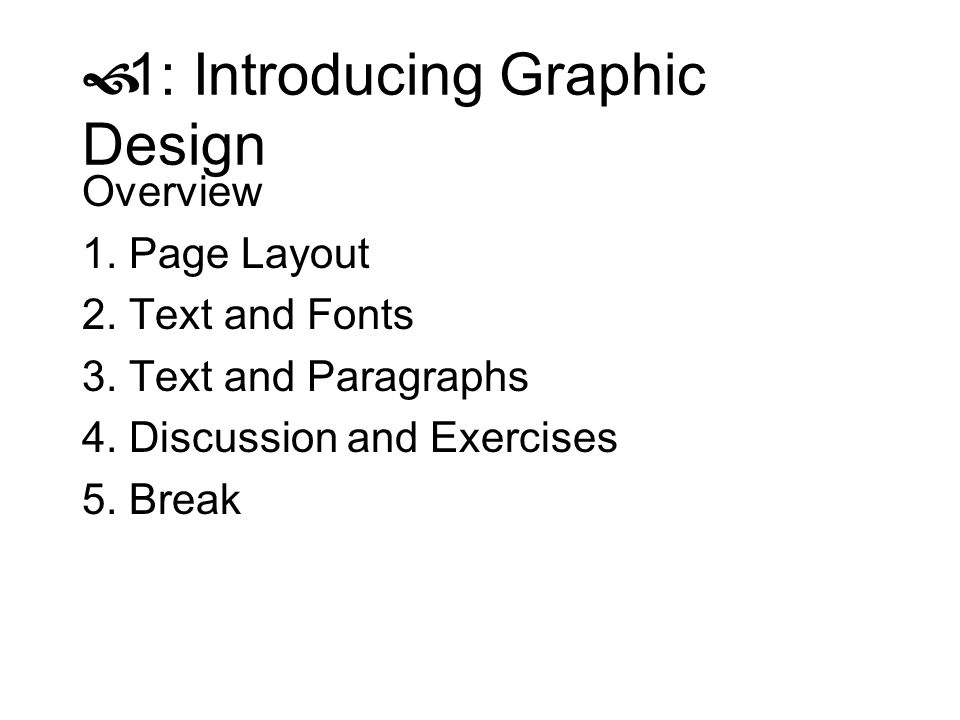 1: Introducing Graphic Design