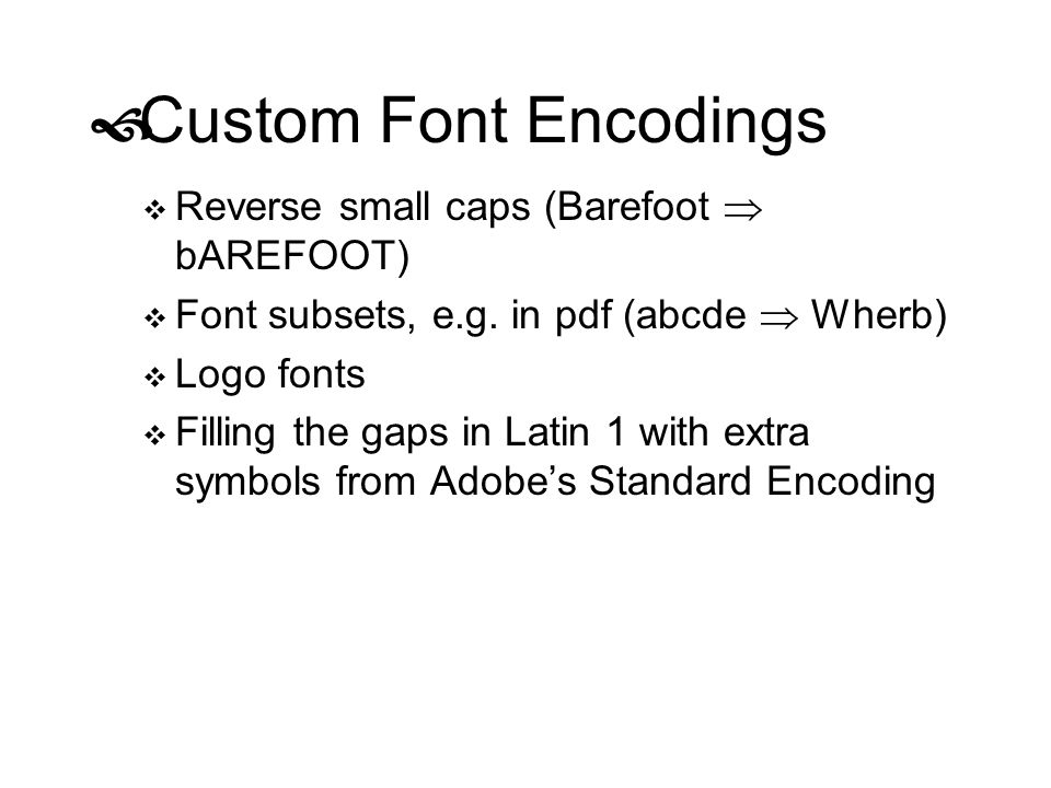 Custom Font Encodings Reverse small caps (Barefoot  bAREFOOT)