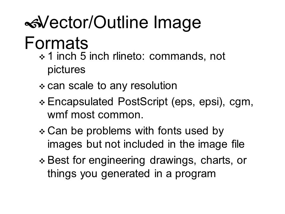 Vector/Outline Image Formats