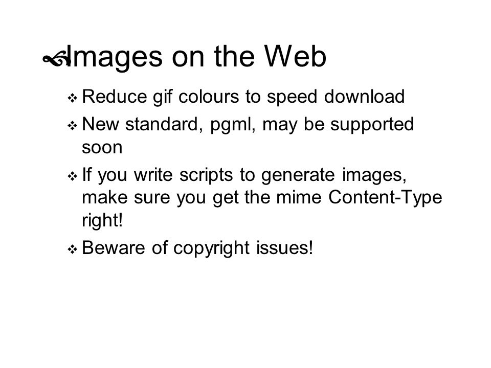 Images on the Web Reduce gif colours to speed download