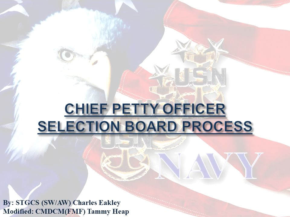 CHIEF PETTY OFFICER SELECTION BOARD PROCESS