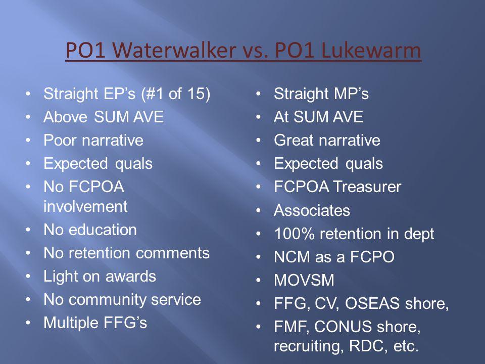 PO1 Waterwalker vs. PO1 Lukewarm