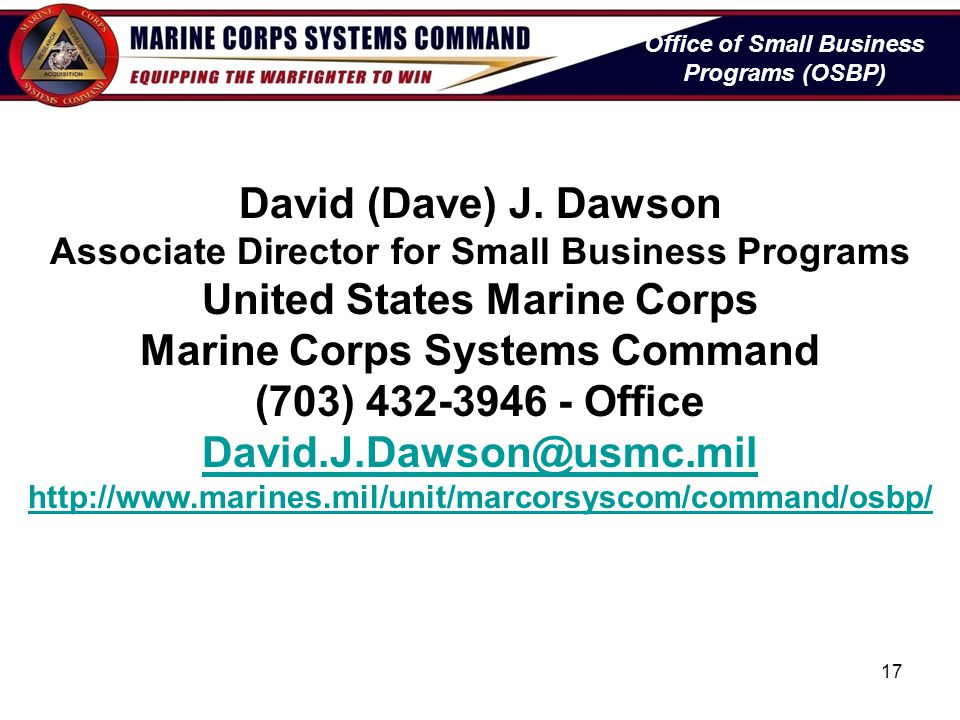 United States Marine Corps Marine Corps Systems Command