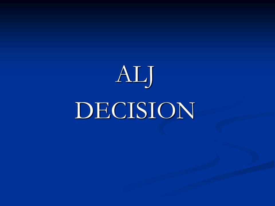 ALJ DECISION