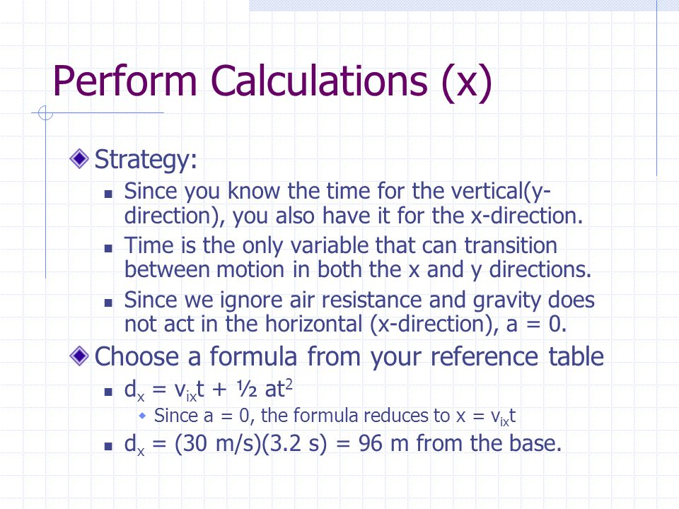 Perform Calculations (x)