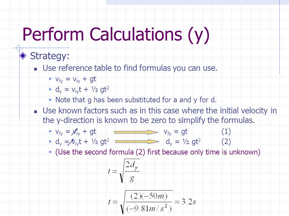 Perform Calculations (y)