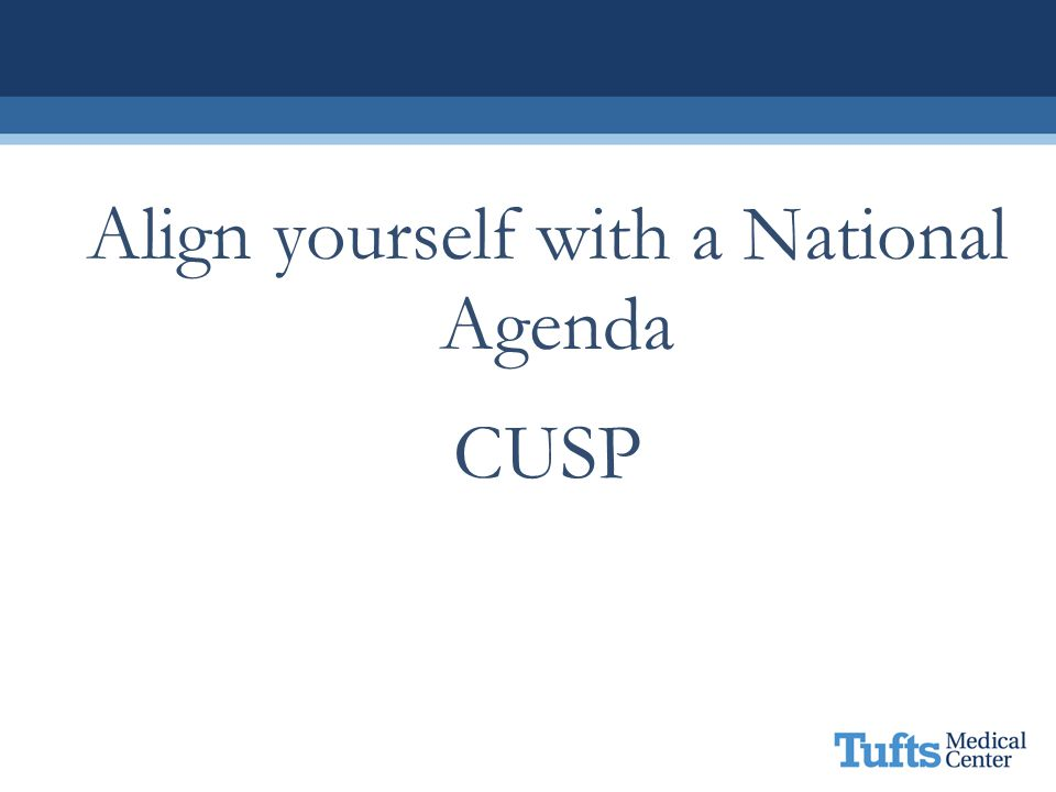 Align yourself with a National Agenda