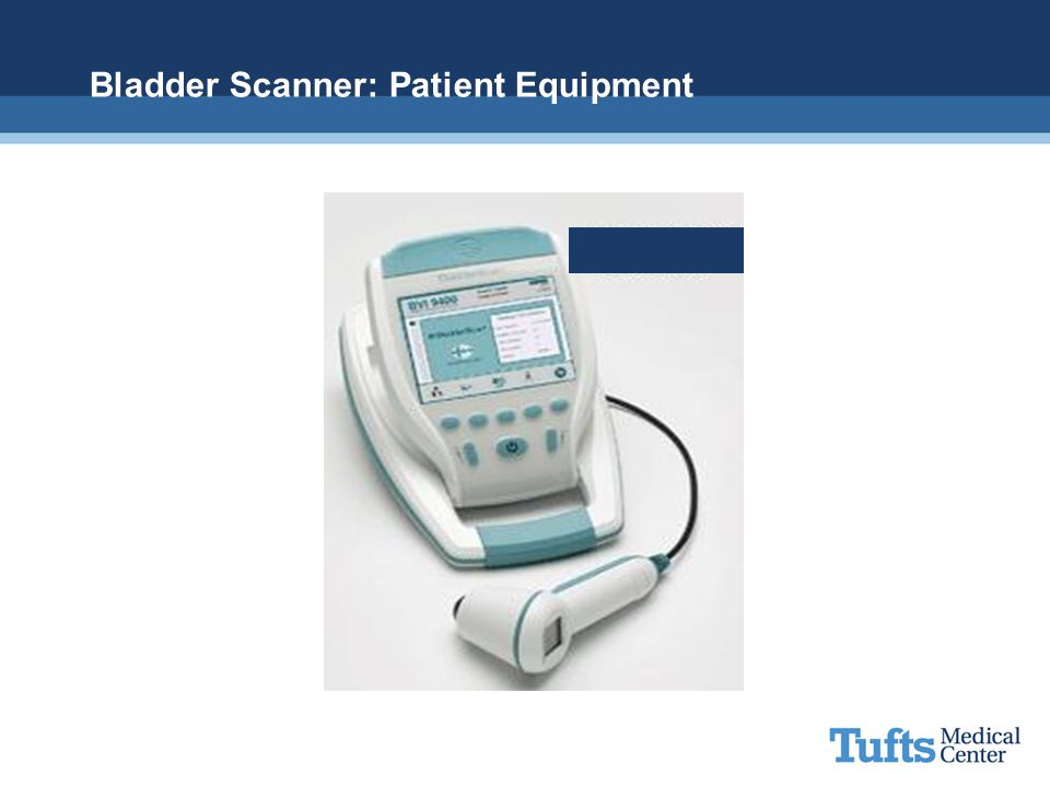 Bladder Scanner: Patient Equipment