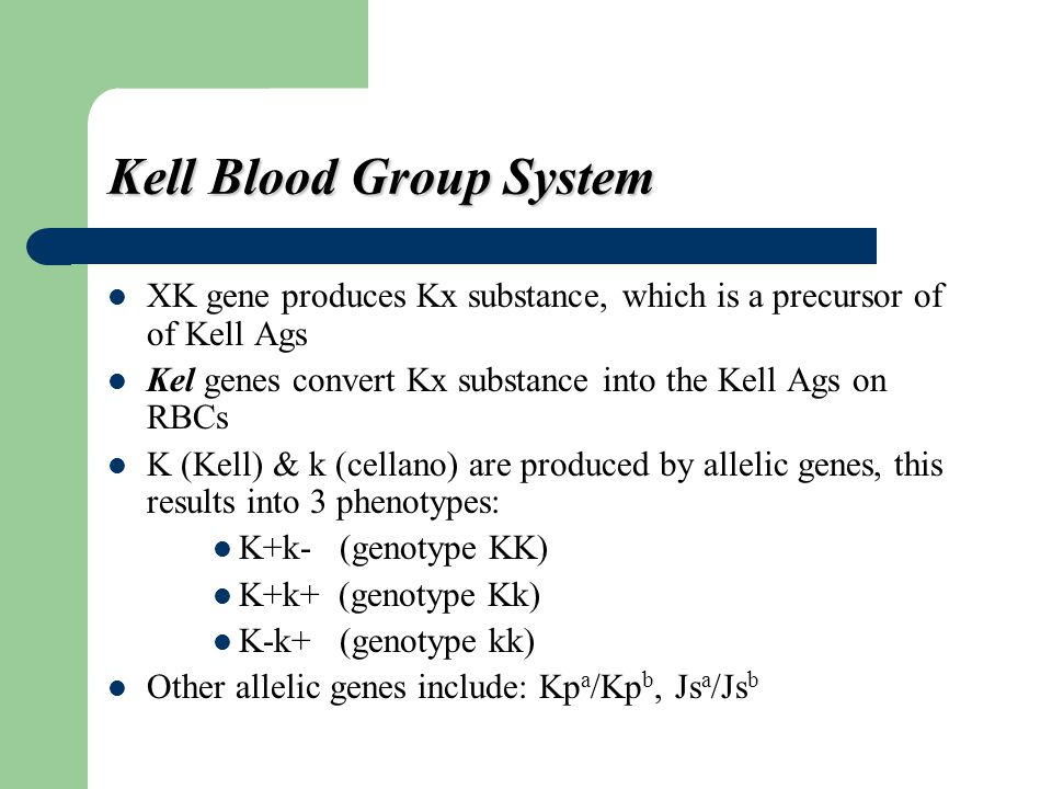 Kell Blood Group System