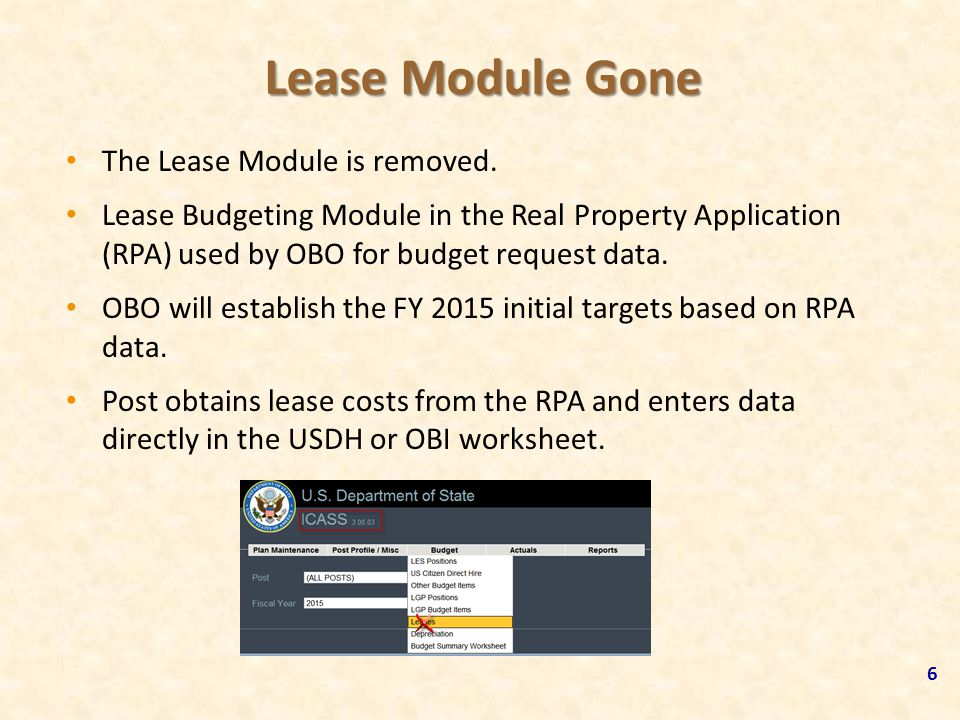 Lease Module Gone The Lease Module is removed.