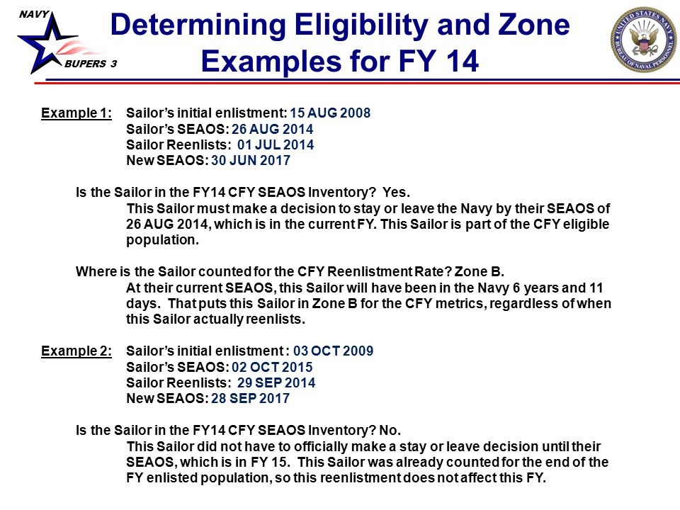 Determining Eligibility and Zone Examples for FY 14
