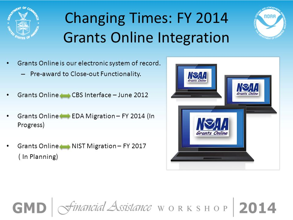 Changing Times: FY 2014 Grants Online Integration