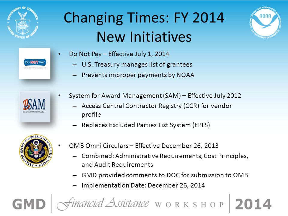 Changing Times: FY 2014 New Initiatives