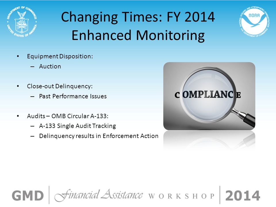 Changing Times: FY 2014 Enhanced Monitoring