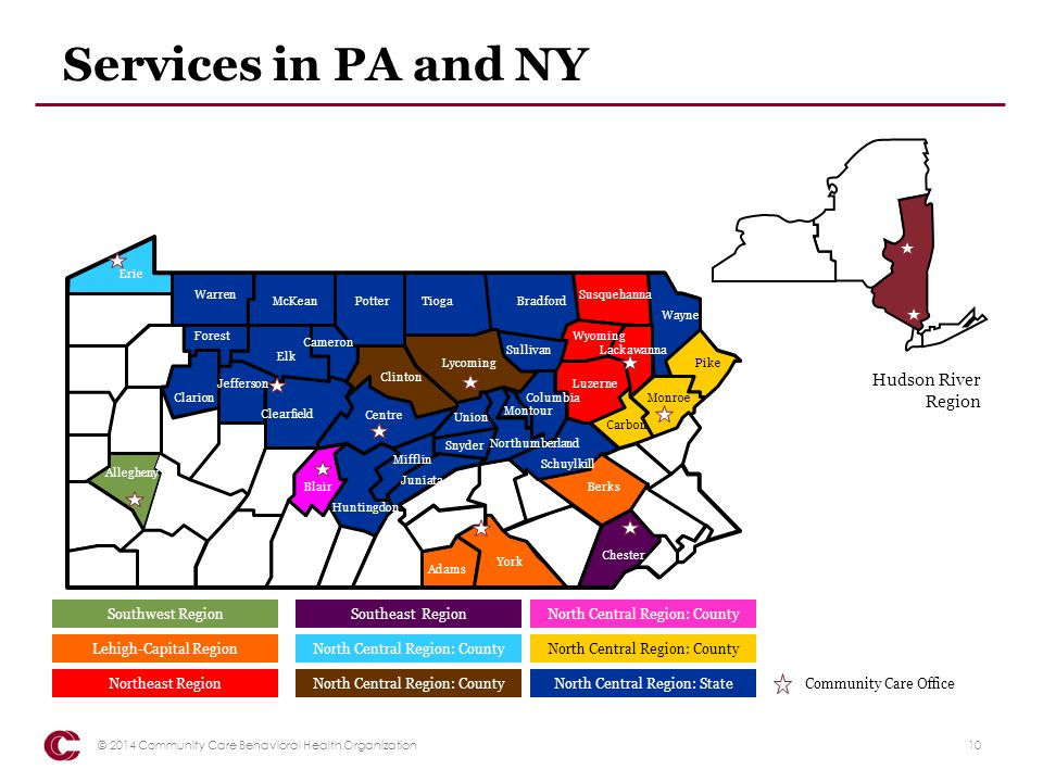 Services in PA and NY Pike. Erie. Allegheny. Blair. Clarion. Forest. Warren. McKean. Potter.