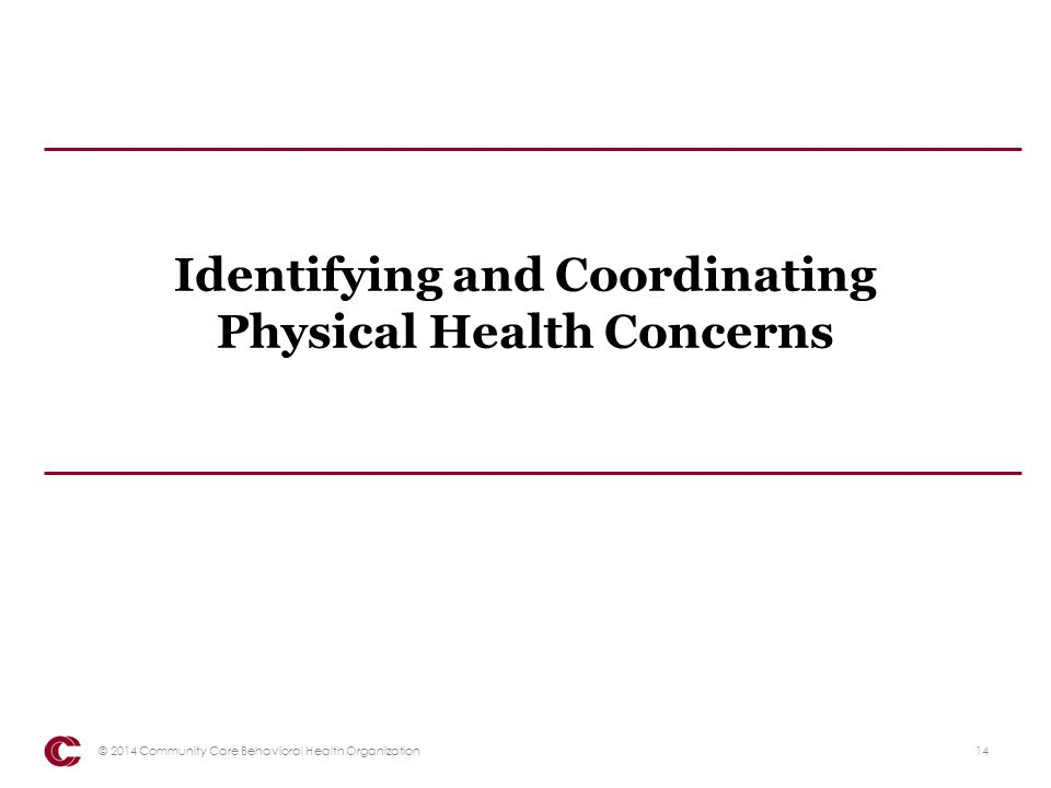 Identifying and Coordinating Physical Health Concerns