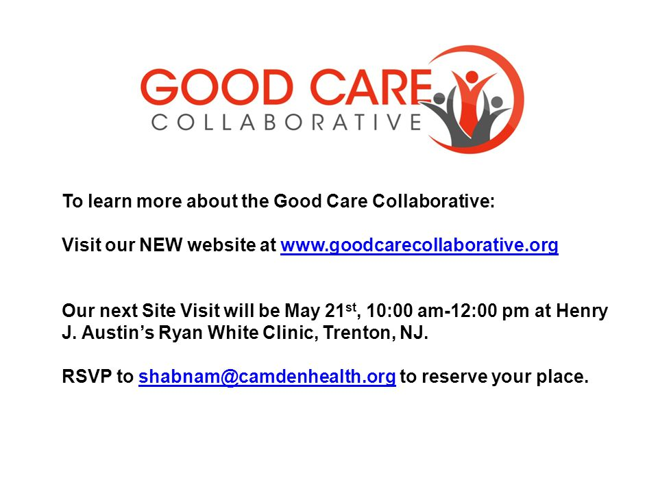 To learn more about the Good Care Collaborative: