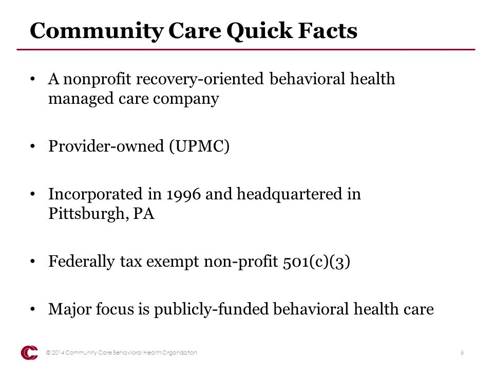 Community Care Quick Facts