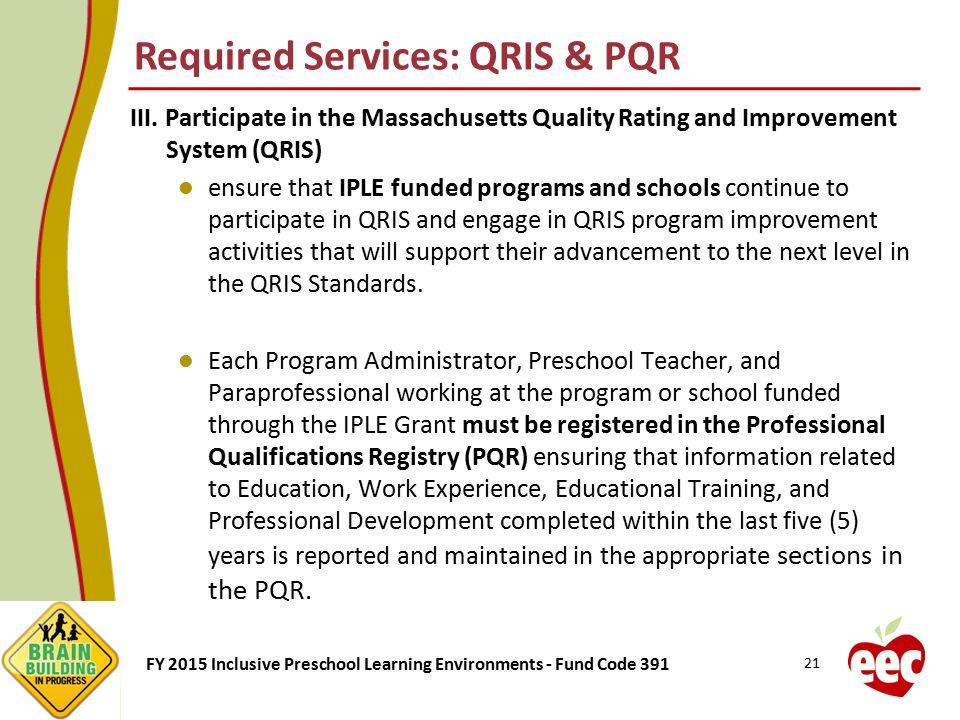 Required Services: QRIS & PQR