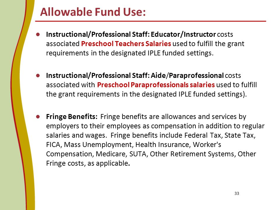 Allowable Fund Use:
