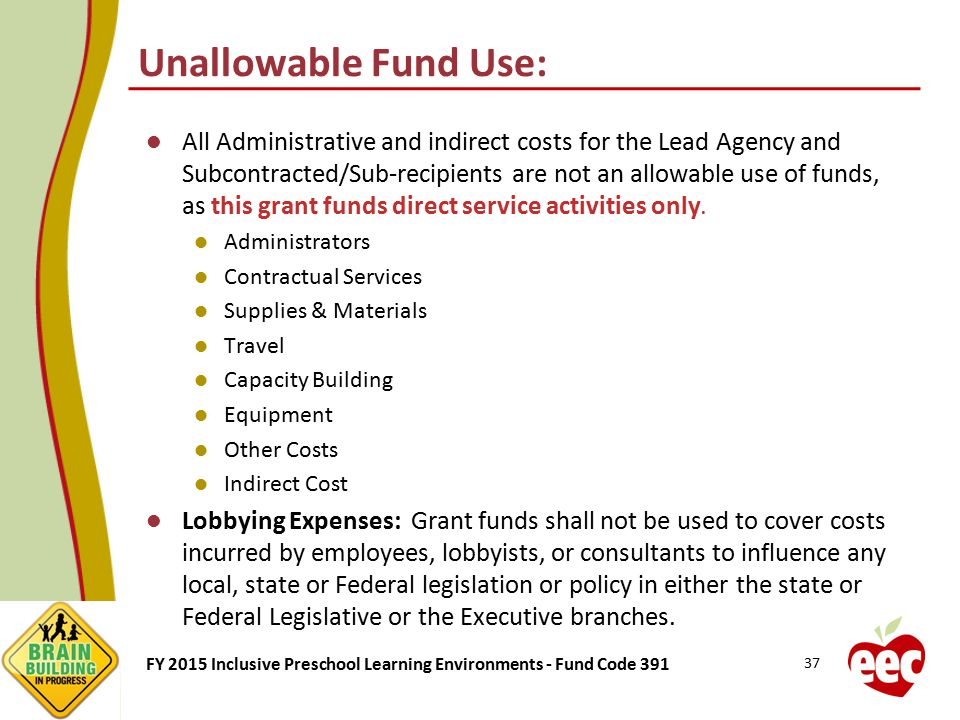 Unallowable Fund Use: