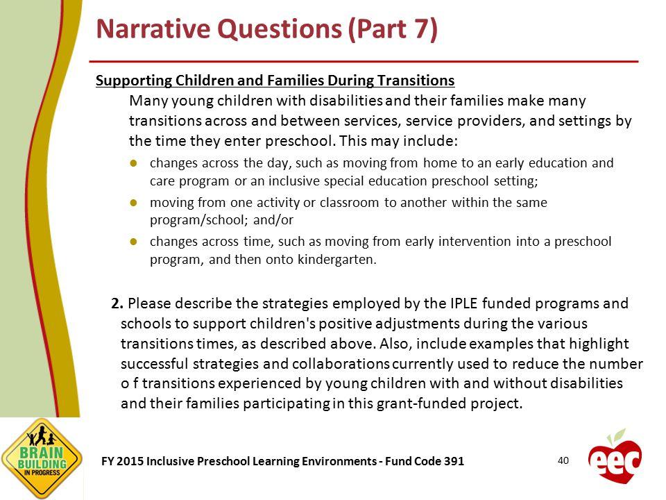Narrative Questions (Part 7)